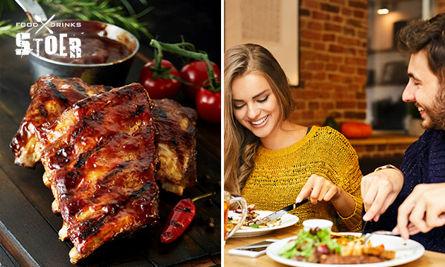 All-You-Can-Eat spareribs + drankje bij Stoer Food & Drinks