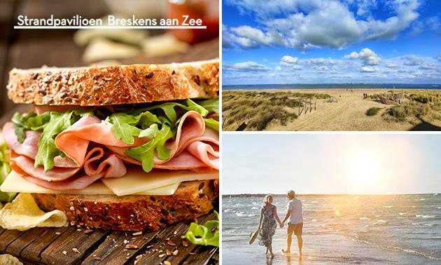 Wandelarrangement + lunchpakket bij Strandpaviljoen BAZ