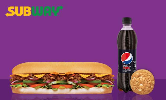 Afhalen bij Subway: broodje + frisdrank + cookie/chips