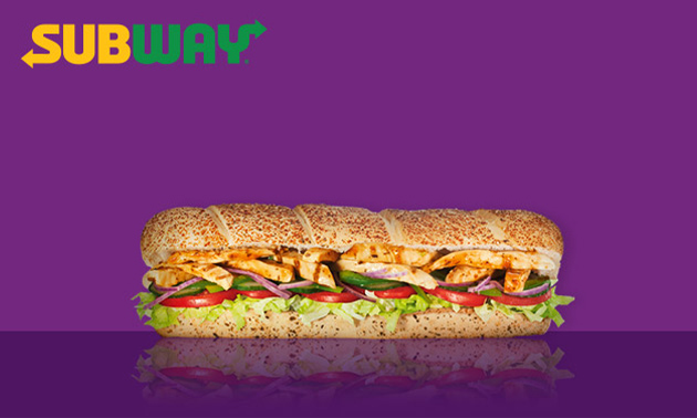 Afhalen: broodje (30 cm) bij Subway