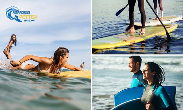 Les surfen, suppen of bodyboarden (1,5 uur)