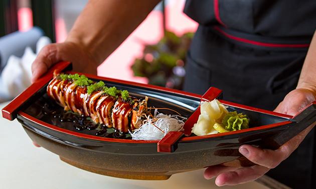 3-gangen sushidiner voor 2 bij Sushi & Rolls