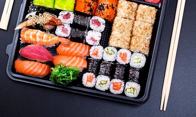 Afhalen: salade + sushibox bij Sushi Call Den Bosch