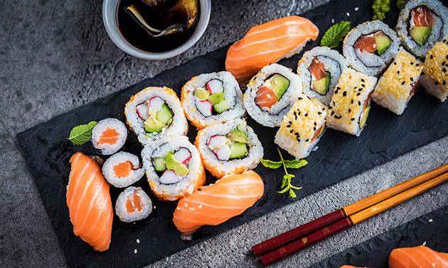 Afhalen: sushibox (24 of 48 stuks) bij Sushi Time
