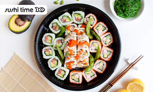 Afhalen: sushibox (24 of 48 stuks) van Sushi Time
