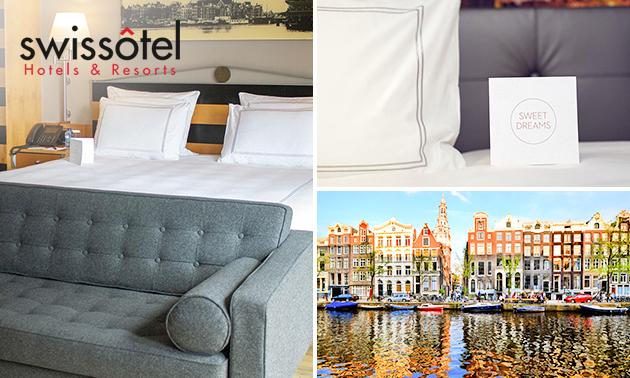 Voor 2 personen: overnachting + ontbijt + diner in hartje Amsterdam