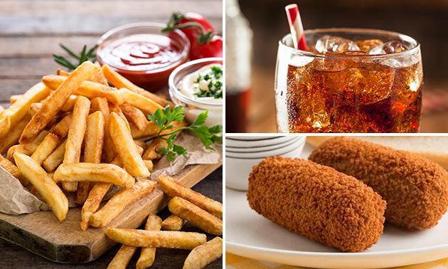Afhalen: grote friet + snack + drankje in hartje Hilversum