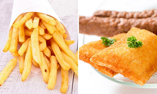 Afhalen: familiezak patat + 4 snacks