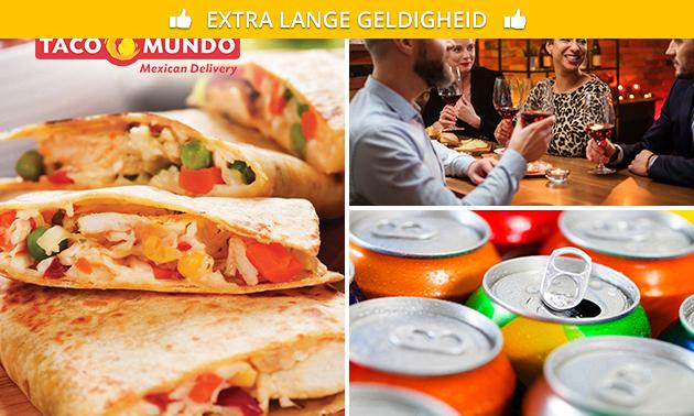 Take-away diner bij Taco Mundo