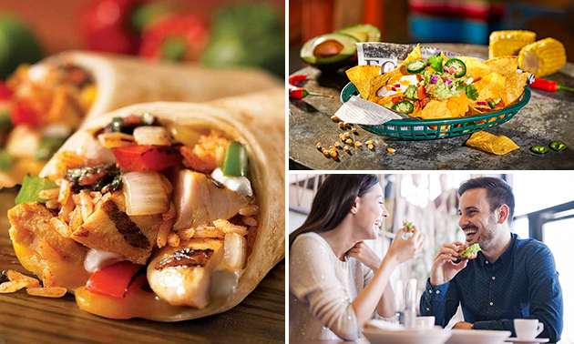 Burrito naar keuze + side dish + onbeperkt fris