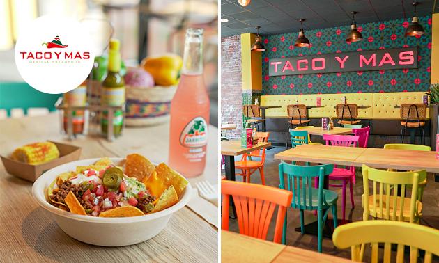 Nacho's-menu inclusief drankje bij Taco Y Mas