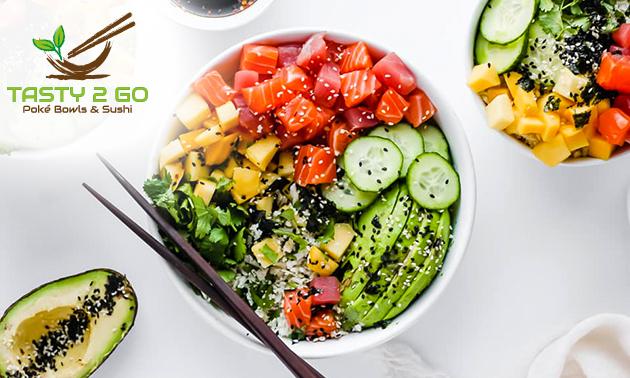 Take-away poké bowl + fris bij Tasty 2 Go