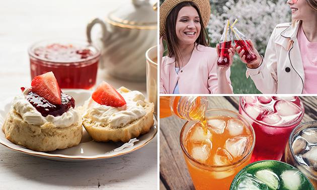 Drankje + taart en scone bij Tea(Cup)Cake