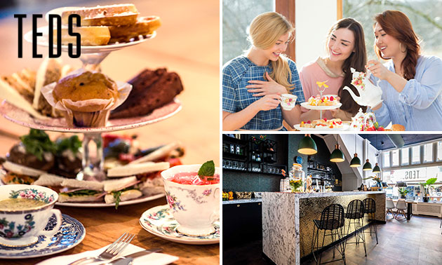 High tea bij Teds in hartje Den Haag