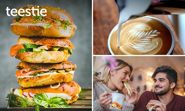 Afhalen: broodje of panini + warme drank naar keuze