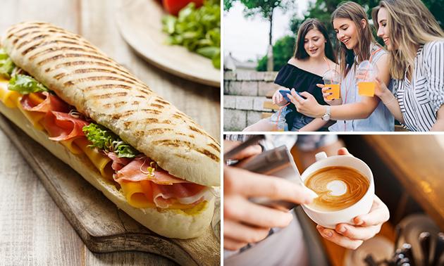 Afhalen: broodje naar keuze + verse jus + koffie/thee