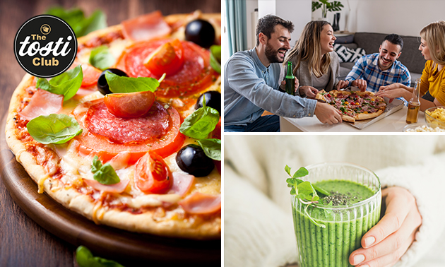 Afhalen: mini-pizza + smoothie bij The Tosti Club