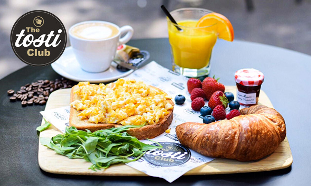 Ontbijt + koffie/thee + verse jus bij The Tosti Club