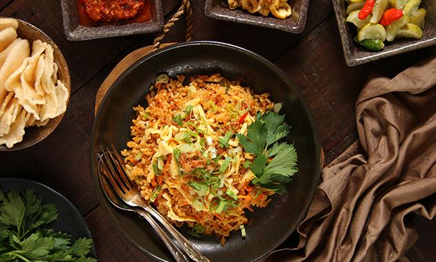 Thuisbezorgd of afhalen: rijsttafel + gemberbier