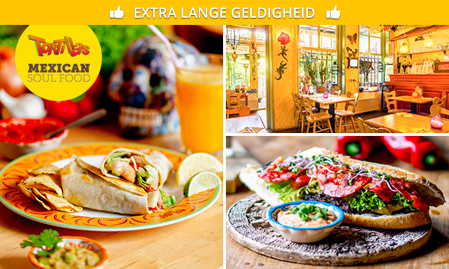 2-gangen keuzelunch of Latin high tea bij Tortillas