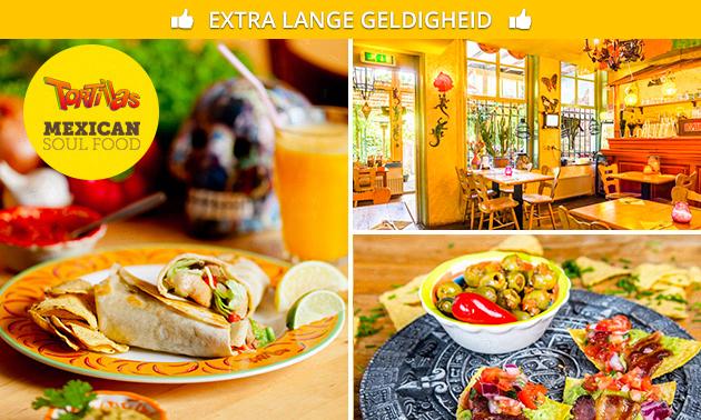 2-gangen keuzelunch of Latin high tea bij Tortillas