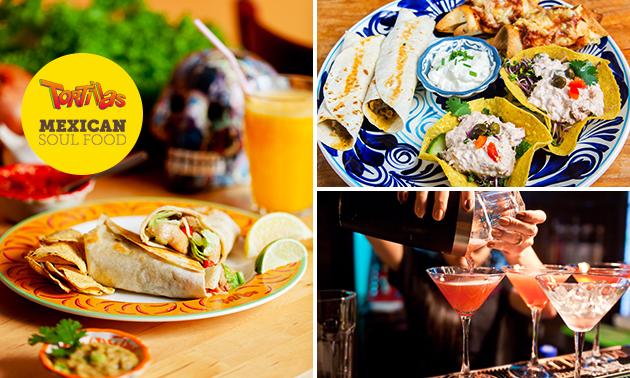 Thuisbezorgd: Mexicaans diner voor 2 van Tortillas