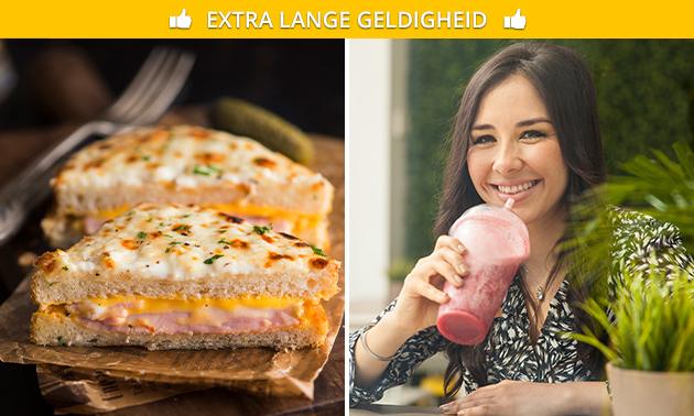 Afhalen: luxe tosti + smoothie