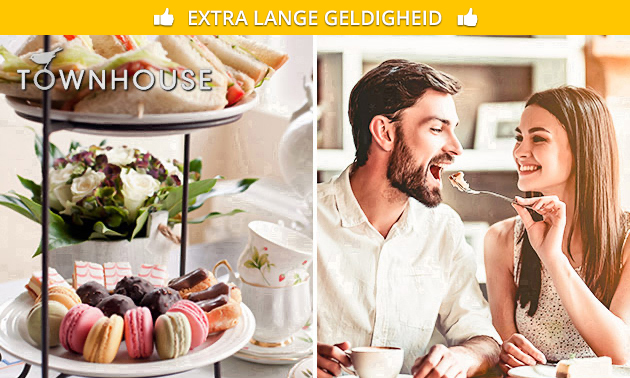 Afhalen: high tea + glas bubbels bij Townhouse