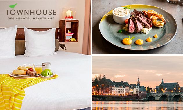 Overnachting + ontbijt + diner + meer voor 2 in Maastricht