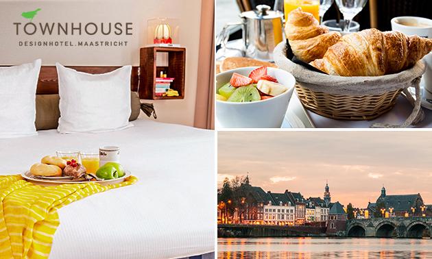 Overnachting + ontbijt voor 2 in Maastricht