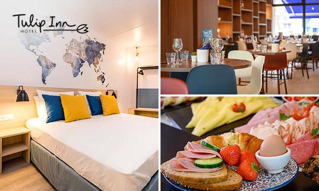 Overnachting voor 2 + ontbijt bij Tulip Inn in Antwerpen