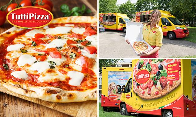 Thuisbezorgd en vers voor de deur gebakken: pizza naar keuze