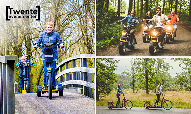 Tocht met e-chopper, loopfiets of swingtrike + routekaart