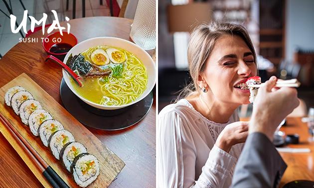 2-gangen sushidiner bij Umai Sushi