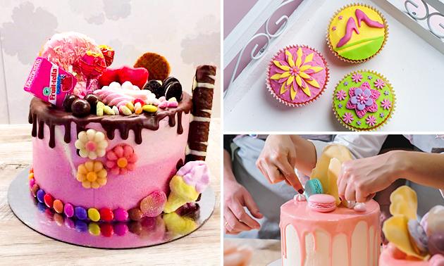 Workshop cupcakes of taart decoreren (2,5 of 3 uur)