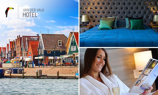 Overnachting voor 2 + take-away ontbijt nabij Volendam