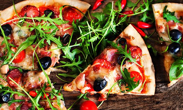 Afhalen: 1 of 2 pizza's + evt. fles wijn