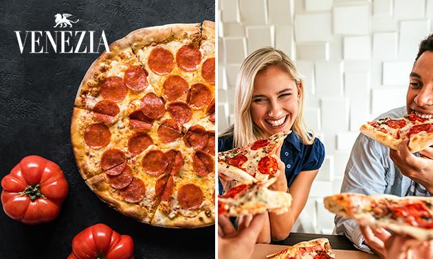 Pizza naar keuze + blikje fris