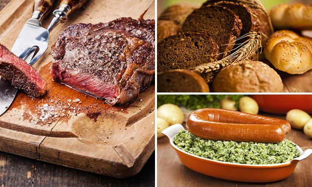 Waardebon voor verse maaltijden, brood en vlees