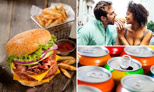 Luxe hamburgermenu + drankje