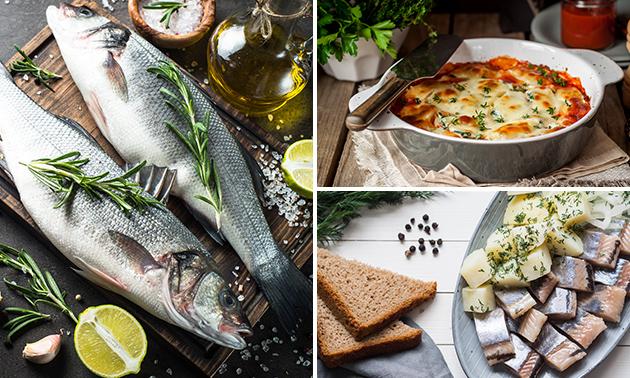 Ovenschotel of vispakket voor 2 personen
