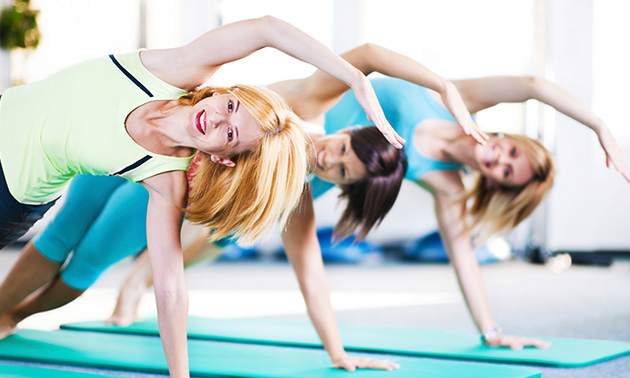 5 of 8 lessen pilates en/of yoga