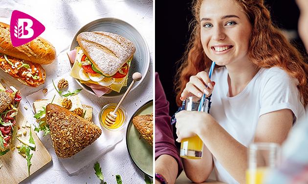 Afhalen bij Bakker Bart: belegd broodje + drankje