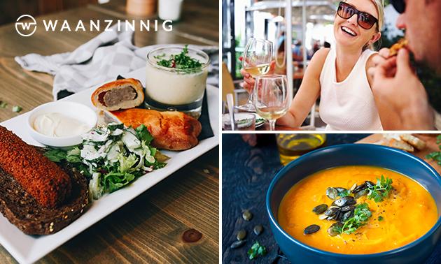Lunch + drankje bij Waanzinnig in hartje Tilburg