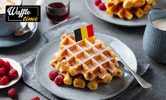 Afhalen: Luikse wafel + toppings + drankje in hartje Haarlem