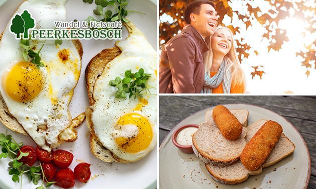 Wandelroute + lunch bij Peerkesbosch