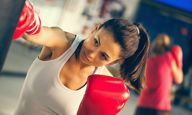 8 lessen fitness kickboxing of kickboksen