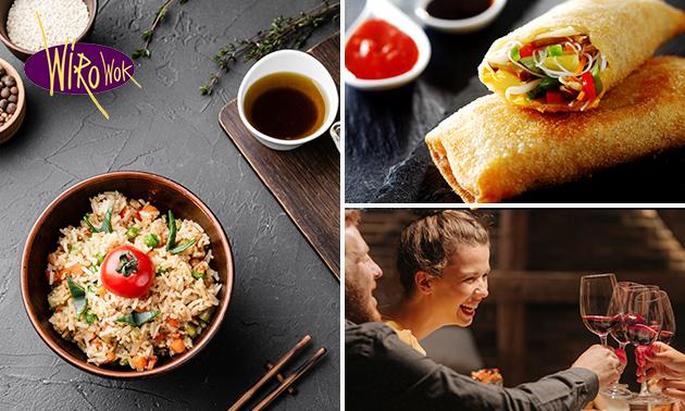 Thuisbezorgd of afhalen: Aziatische rijsttafel voor 2