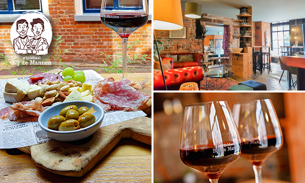 Borrelplank + glas wijn in hartje Leeuwarden