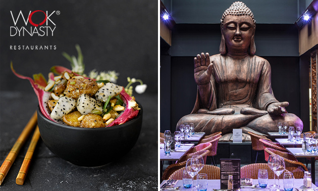 All-You-Can-Eat lunch + cava + koffie/thee bij Wok Dynasty